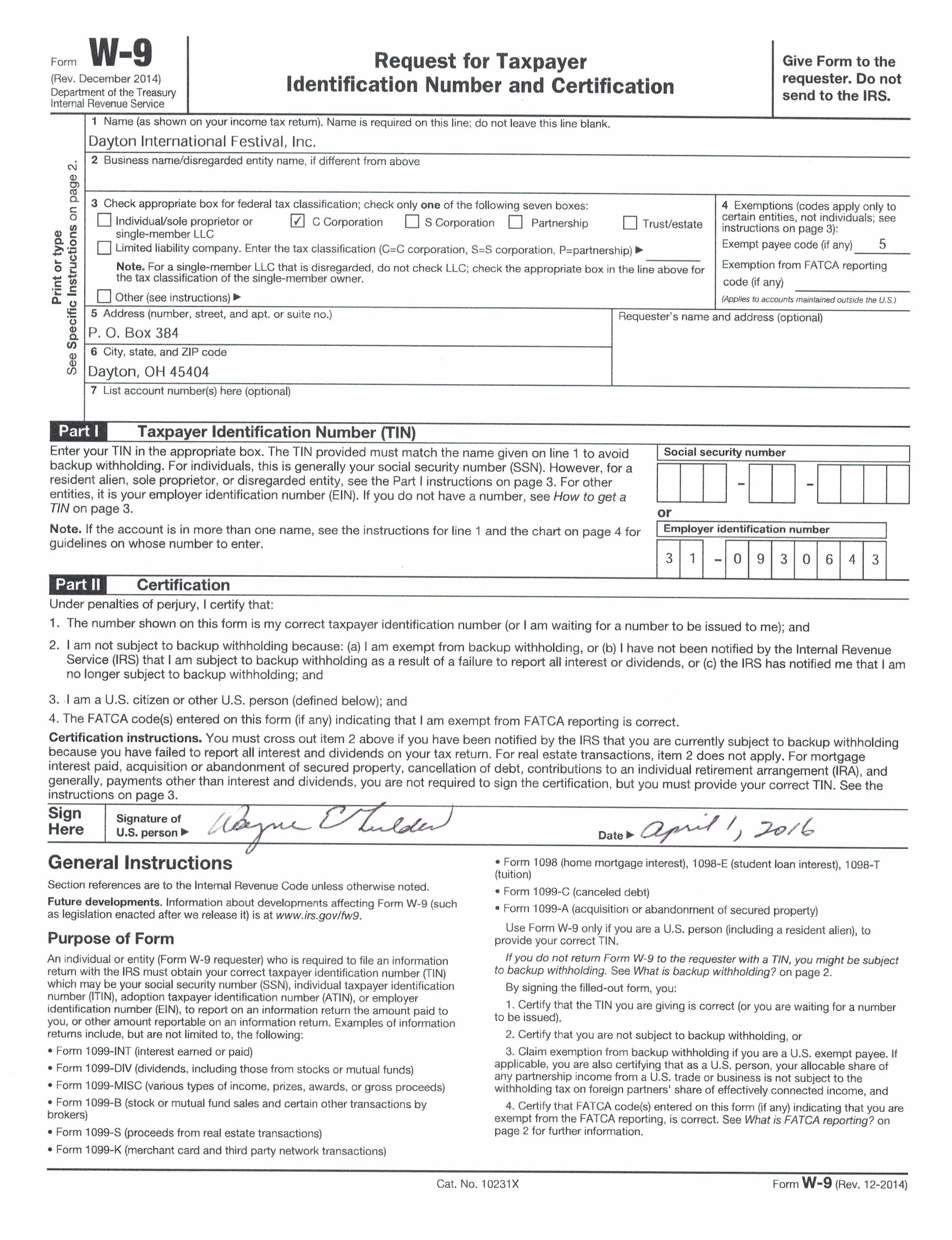 Financials difi our w 9 form filled in falaconquin